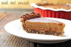 Yummy {Sweet Potato Pie} on a Maple Quinoa Crust | Nosh and Nourish