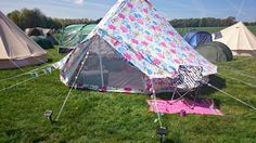 My new flowery canvas bell tent pitched at Locko Park, Derby, England May 2014 #boutiquecamping #belltent #tent #camping #flower #funky #hippytent #flowerbelltent #pattern