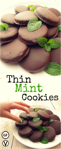 "- Gluten-Free Thin Mint Cookies - Gluten-Free Thin Mint Cookies that are so good you can't eat just one. This Gluten-Free Thin Mint cookie recipe allows me to enjoy those minty, chocolatey cookies I once loved without the ""bad stuff"". via: @WYGYP"