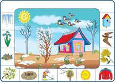 Seasons Activities, Spring Activities, Activities For Kids, Crafts For Kids, Weather For Kids, English For Beginners, Hidden Pictures, Speech Activities, Toddler Learning