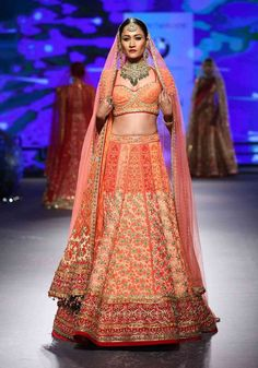 A model displays an enchanting bridal wear at the BMW India Bridal Fashion Week 2015.