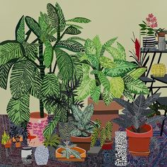 JONAS WOOD, BLUE RUG STILL LIFE (2014). COURTESY THE ARTIST AND DAVID KORDANSKY GALLERY.