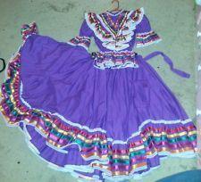 Purple ballet folklorico jalisco dress