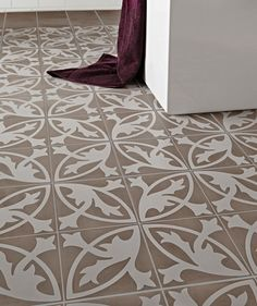 """Camden Grey Floral Lys """"encaustic"""" from Topps tiles 54.27/m2"""