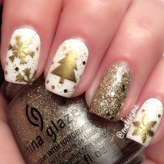 Nail art kerstmis🎄