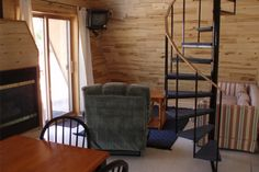 Northern WI A Frame Cabin living room