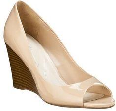 Marita Patent Peep Toe Wedge Heel