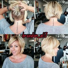Short Bob Hairstyle with Undercut -kinda-