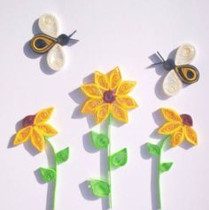 Flowers and Bees - Quilled Creations Quilling Gallery