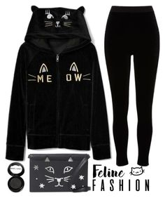 """feline fashion"" by j-n-a ❤ liked on Polyvore featuring River Island, Charlotte Olympia, Manic Panic NYC, casualday and felinefashion"
