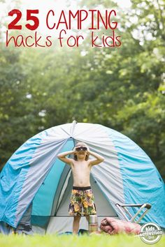 Scavanger hunt, raw scrambled eggs in pouring container, roll up kid outsits wrap in rubber band. Camping Tips and Hacks for Families