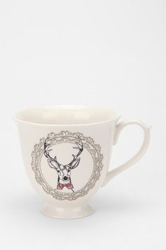 Weird, deer teacup.  Something to break up the girly, daintiness.