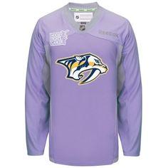 Nashville Predators Reebok NHL Hockey Fights Cancer Practice Men's Jersey - Walmart.com