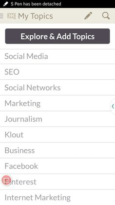My topics at #Klout