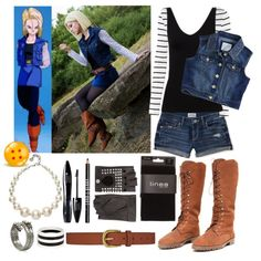 Android 18 inspired (Dragonball Z) Anime Inspired Outfits, Anime Outfits, Fashion Outfits, Cosplay Costumes, Cosplay Ideas, Easy Cosplay, Boy Costumes, Anime Cosplay, Costume Ideas