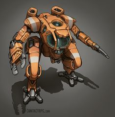 Contact - Submersible Exo Mech by *Shimmering-Sword on deviantART