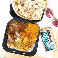 Dank food and OC vibes in the hometown | Chicken Tikka Masala Goat Curry Biryani and Garlic Naan for only $9 at this go-to spot in Fullerton.  # # by seohungry