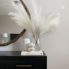 Extra Large Faux White Pampas Grass