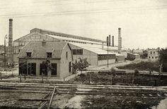 1914. Gezicht op de grote fabriekshal van de Nederlandsche Staalgieterij J.M. de Muinck Keizer te Zuilen.  N.B. Dit gedeelte van Zuilen is per 1 januari 1954 bij de gemeente Utrecht gevoegd.