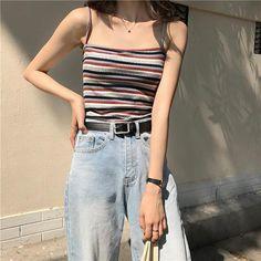 Trendy ideas on korean fashion outfits 746 Crop Top Outfits, Casual Summer Outfits, Edgy Outfits, Korean Outfits, Classy Outfits, Fashion Outfits, Work Outfits, Fashion Ideas, Fashion Trends