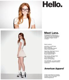 Lana's an American Apparel model? Could life get better