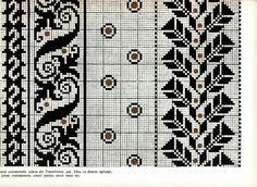 Celtic Cross Stitch, Cross Stitch Borders, Cross Stitch Charts, Cross Stitch Patterns, Fair Isle Knitting Patterns, Knitting Charts, Knitting Stitches, Blackwork Embroidery, Hand Embroidery Stitches