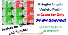 WOW! Stock up for lunches or snacks! Get an 18 count Pringles Singles Variety Pack for only $4.64 shipped! (compare to $6.80 at Walmart!)  Click the link below to get all of the details ► http://www.thecouponingcouple.com/pringles-singles-variety-pack-18-count-4-76-shipped/ #Coupons #Couponing #CouponCommunity  Visit us at http://www.thecouponingcouple.com for more great posts!