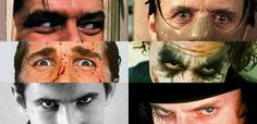 Hollywood Villains  Jack Nicholson in The Shining Anthony Hopkins in The Silence Of The Lambs Christian Bale in American Psycho Heath Ledger in The Dark Knight Anthony Perkins in Psycho Malcolm McDowell in The Clockwork Orange