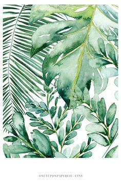 Banana leaf wall art, Banana leaf decor, Palm leaf art print, Palm leaf prints, … - Home Decor Ideas Leaf Wall Art, Leaf Art, Leaf Prints, Art Prints, Tropical Leaves, Tropical Plants, Botanical Prints, Printable Wall Art, Watercolor Art