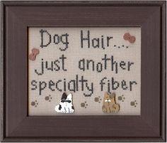 Dog Hair - Cross Stitch Pattern