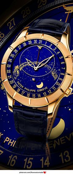 Blue | Blau | Bleu | Azul | Blå | Azul | 蓝色 | Color | Form | Texture | Patek Philippe Celestial 44mm Rose Gold