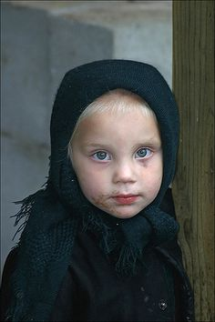 Little Amish Girl   reminds me of the girl at the Amish bakery with jelly on her face.