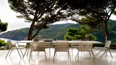 Branch dining table and chairs from Tribu create a beautiful balance between the modern and nature.