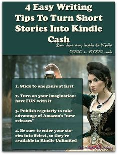 4 Easy Writing Tips To Turn Short Stories Into Kindle Cash -- Want to make money writing short stories? Kindle Unlimited has made short stories not only popular, but profitable too. Easy Writing, Make Money Writing, Writing Help, Writing Skills, Creative Writing, Writing A Book, Short Story Writing, Writing Practice, Start Writing