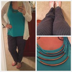 After a tough day and never ending rain and humidity I'm struggling this morning. . But at least it's Wednesday. #Ootd is patterned pants and a shirt that's already accessorized for me . And of course lots of blue for #BlueForJDRF and #wearwhatwhereseptember. Patterned pants are new for me but slowly learning how to style them. Have a great day everyone!  #schoolcounselorlife #anotherrainyday #humpday #needcoffee  #patterns #goldembellishment #teachersofinstagram #teacherootd #teacherstyle…
