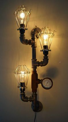 Steampunk Lamps #IndustrialStyle #Lighting #LightBulb #Lamp