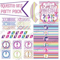 Equestria Girls Party Pack My Little Pony by HomegrownTrinkets, $10.00 #MyLittlePonyFriendshipIsMagic #MLPFIM #Brony