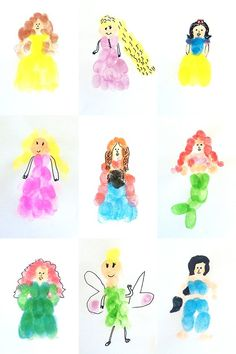 Have fun creating your favourite characters from your fingerprints!