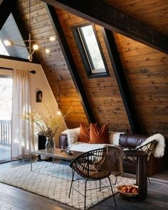 "interior-design-home: "" The A-Frame Cabin is designed by Nicole Palczynski. "" #residentialarchitecture"