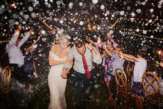 The best way to exit your wedding in style Champagne sendoff is fun, unique and the best way to celebrate for gorgeous wedding photos | night time exit no sparklers only fun | Boston farm wedding Georgia Peach | Halle Morgan Photography | Wedding designer Kristi Sanders of At Last Florals | epic wedding ideas