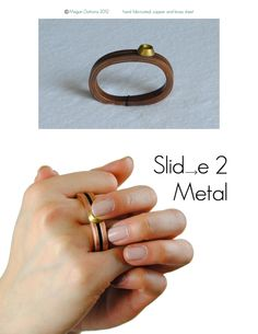 """Fidget by Megan Dattoria, via Behance - kids and adult """"rings"""" that help fidgeting, attention, focus... metal and plastic rings"""