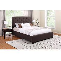 Kingston Queen Upholstered Bed - Chocolate - Sam's Club - $399