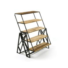 Bookshelf that morphs into an industrially chic dining table. OMG, so cool!