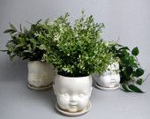 Porcelain Baby doll head planter