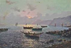 Vincenzo d'Auria, Fishing vessels off the Bay of Naples