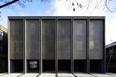 hotel facade Fragments of architecture Terr - hotel Minimalist Architecture, Facade Architecture, Contemporary Architecture, Building Exterior, Building Facade, Facade Design, Modern Buildings, Terrazzo, Facades