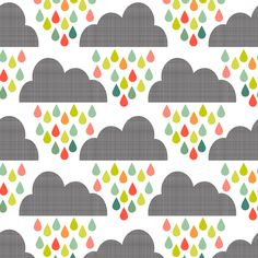 Happy Rain Small Scale fabric by natitys on Spoonflower - custom fabricGood for shower curtain if bigger scale