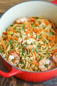 These Thai shrimp noodles are quicker than take-out and so much tastier!