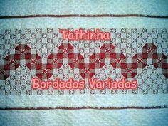Tathinha Bordados #49 - PONTO CRUZ DUPLO COM PONTO CHEIO