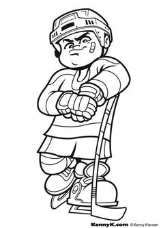Winter sports color pages. Sports coloring pages. Coloring pages for kids. Thousands of free printable coloring pages for kids! Lego Hockey, Hockey Goalie, Hockey Mom, Hockey Teams, Hockey Players, Field Hockey, Hockey Rules, Sports Coloring Pages, Coloring Pages For Boys